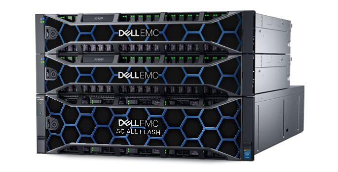 Полные флэш-массивы хранения данных Dell EMC SC